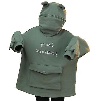 Women's Stitching Three-dimensional Frog Pullover