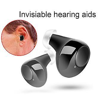 1 Pari mini cic melunvaimennusta ladattava näkymätön cic melunvaimentimet kuulokojeet korvavahvistin avustin 2019