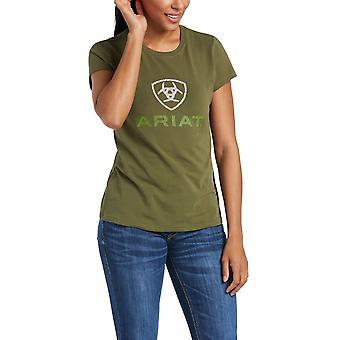 Ariat Hd Logo Short Sleeved T-shirt - Winter Moss