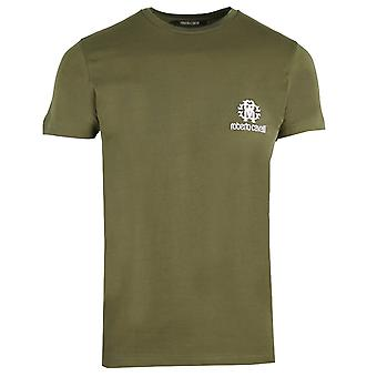 Roberto Cavalli RC Chest Logo Green T-Shirt
