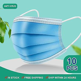 Disposable Mouth Masks, Earloop, Meltblown, Cloth Mask Non Woven, Breathable