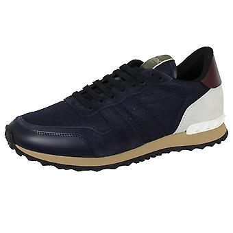Valentino men's navy rockrunner trainers