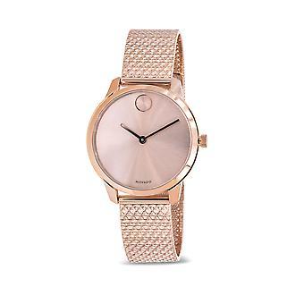 Movado Bold Rose Gold-Tone Mesh Dames Horloge 3600596