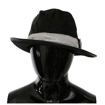 Traje Nacional Preto Clássico Wide Brim Floppy Panamá Hat