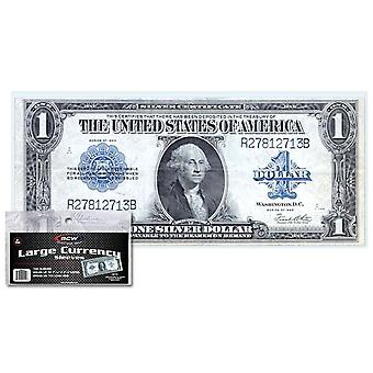 "BCW Sleeves Currency Large Bill (7"" 7/16 x 3"" 1/4)"