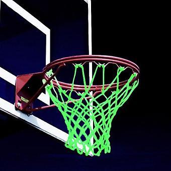 1kpl 12 soljet punottu nailon hehkuva valo valoisa koripallo verkkoyö