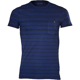 French Connection Tri-Stripe Chest Pocket T-Shirt, French Blue