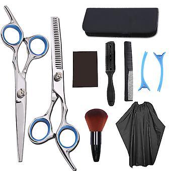 Tesoura de corte de cabelo reta snips thinning hairdressing ferramentas barbeiro lf4