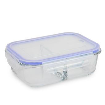 Set of 4 Glass Meal Prep Containers| M&W 3 Compartment