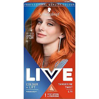 Colore Live Schwarzkopf - Ascensore L74 Tangerine Twist permanent Hair Dye x 3
