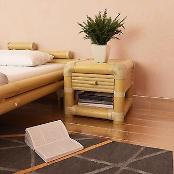 mesa de cabeceira vidaXL 45x45x40 cm Bambu Natural