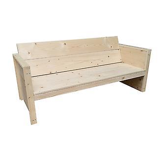 Wood4you - Vlieland Gartenbank - 'Do it yourself' Kit Vurenhout 180Lx72Hx57D cm - Incl Kissen