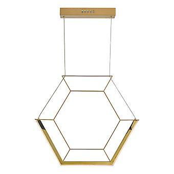 DAR HEXAGON Sechskant Anhänger Licht Gold LED, 1x LED