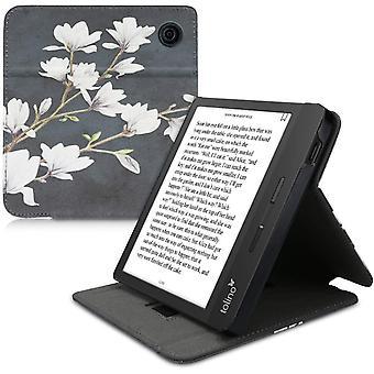 Wokex Hülle kompatibel mit Tolino Vision 5 - Schlaufe Ständer - e-Reader Schutzhülle - Magnolien
