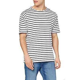 Armor Lux 1527, Camiseta para hombre, Blanco (Blanc (400 Blanc/Navire)), Grande (Talla fabricante: 4)