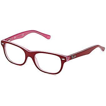 Ray-Ban Junior 0RY 1555 3761 46 Kehykset, Pinkki (Läpinäkyvä vaaleanpunainen Päällä Bordeaux), Unisex-Bambini