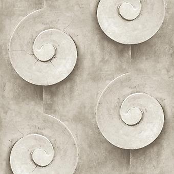 Stone Effect Grijs Swirl Behang