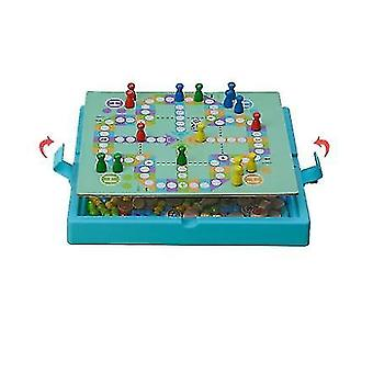 Two-sided Wooden Checkers Flight Ludo Ita Keiko Home Toys Psychology