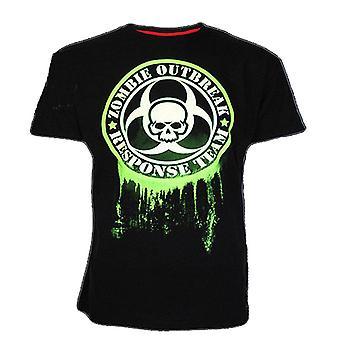 Darkside ZOMBIE OUTBREAK BIO-HAZARD GLOW Heren Glow in the Dark T-Shirt