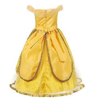 100Cm noel partisi fantezi kostüm deluxe prenses kızlar x1629 için giyinmek