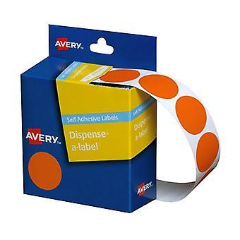 Avery Dispenser Orange 24Mm Roll 500