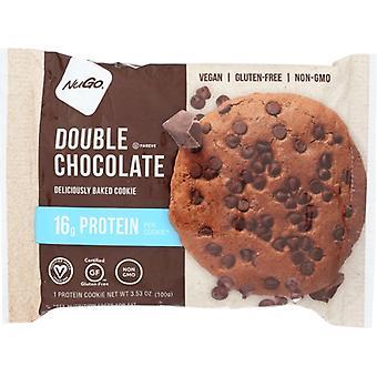 Nugo Protein Cookie Double Chocolate, Kasa 12 X 3.53 Oz