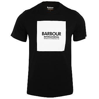 Barbour international men's black block logo t-shirt