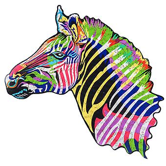 Children's Puzzles Animal Shapes Wood 3d Jigsaw Puzzle Zebra-shaped Children Puzzles Gifts