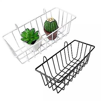 Wall Grid Shelf, Wall Mounted Mesh Photo Display Panel For Decoration Storage(White)