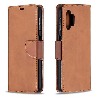 Case Samsung Galaxy A32 4g Leather Cover Folio Wallet Brown