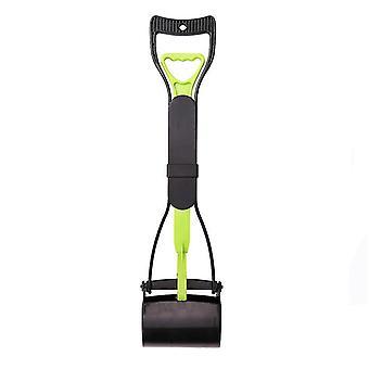 Lange handvat huisdier toilet picker, hond clip, kruk, huisdier schoonmaken benodigdheden (groen zwart)