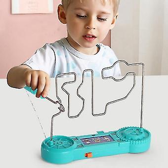 Sähköinen kosketus sokkelo peli törmäys sähköisku lelu tiede kokeilu leluja lapsille lahja (001