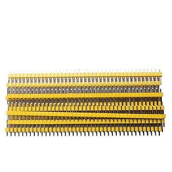 40 Stift 1x40 enkelradig hane och hona 2,54 brytbar stifthuvud pcb jst anslutningsremsa för arduino svart