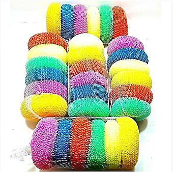 30 Pcs Plastic Scourers Cleaning Washing Pads Home Kitchen Restaurants