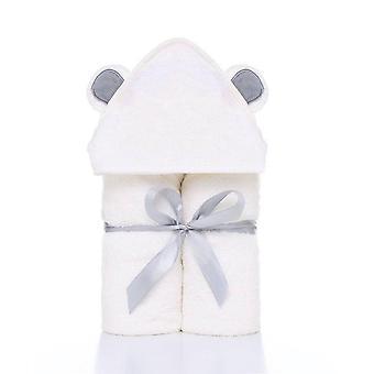 かわいい動物の形フード付きベビータオル、バスローブ