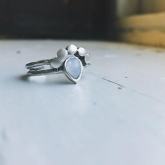 Mondtropfen Mondstein Ring