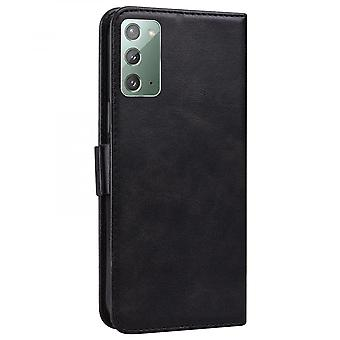 Case For Samsung Galaxy Note 20 Wallet Flip Pu Leather Cover Card Holder Coque Etui - Black Cat