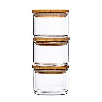 Sass & Belle Stacking Glass Storage Jars -  Set of 3