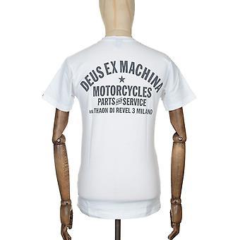Deus Ex Machina Milano Address Tee - White