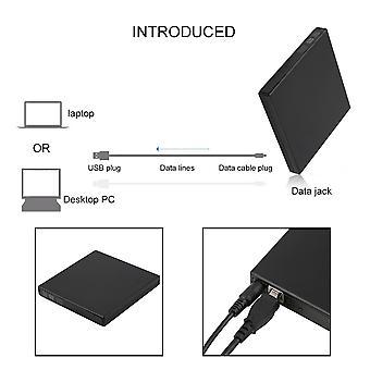 Usb 2.0 External Cdrw Dvdrw Dvd-ram Burner Drive Writer For Laptop Pc