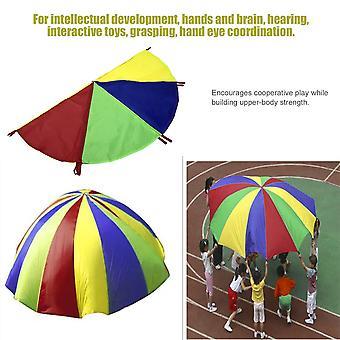 Lapset pelata sateenkaari ulkopeli liikunta urheilu 8 kahvat laskuvarjo lelu