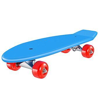 Kit de planche à roulettes pour enfants Complete Skateboard Downhill Longboard With Protective Gears For Boys Girls Kids Beginners (bleu)