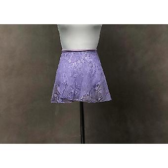 Apron Leotard Lace Dress, Elegant Ballet Exercise Dance Skirt