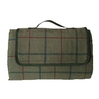 Luxury Green Tweed Picnic Blanket