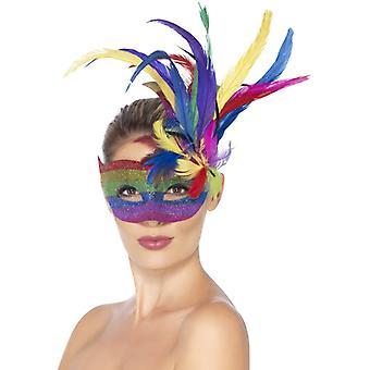 Tęczowe oko maski kobiet