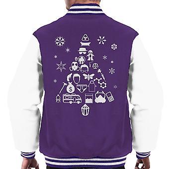 Breaking Bad kerstboom silhouet witte mannen Varsity Jacket