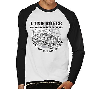 Haynes Owners Workshop Manual Land Rover Adventure Black Men's Baseball Long Sleeved T-Shirt