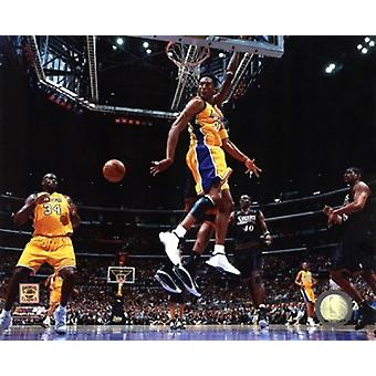 Kobe Bryant & Shaquille ONeal 2001 NBA Finals Action Sports Photo (10 x 8)
