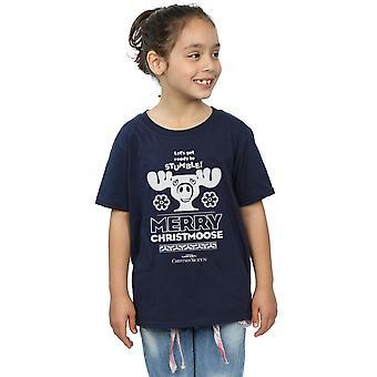 National Lampoon es Weihnachten Urlaub Merry Christmoose T-Shirt für Mädchen
