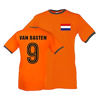 Marco Van Basten Holanda Ringer Tee (naranja)